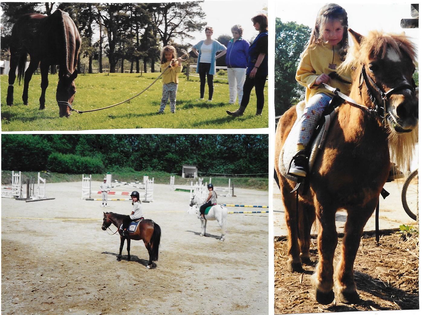 Photos argentiques de moi à cheval - Faustine Gauchet