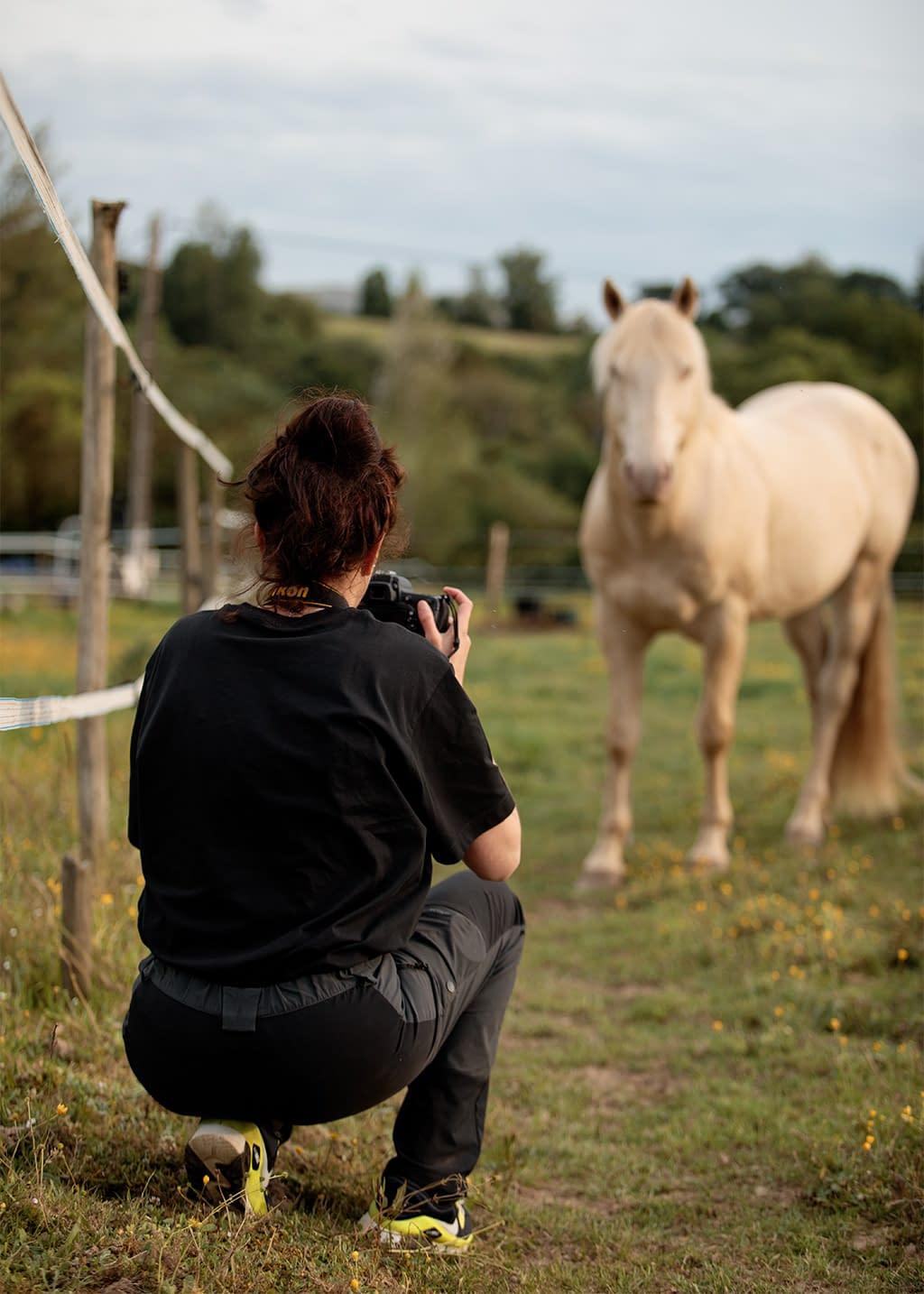 backstage cours de photographie équine Faustine Gauchet, photographe et cheval