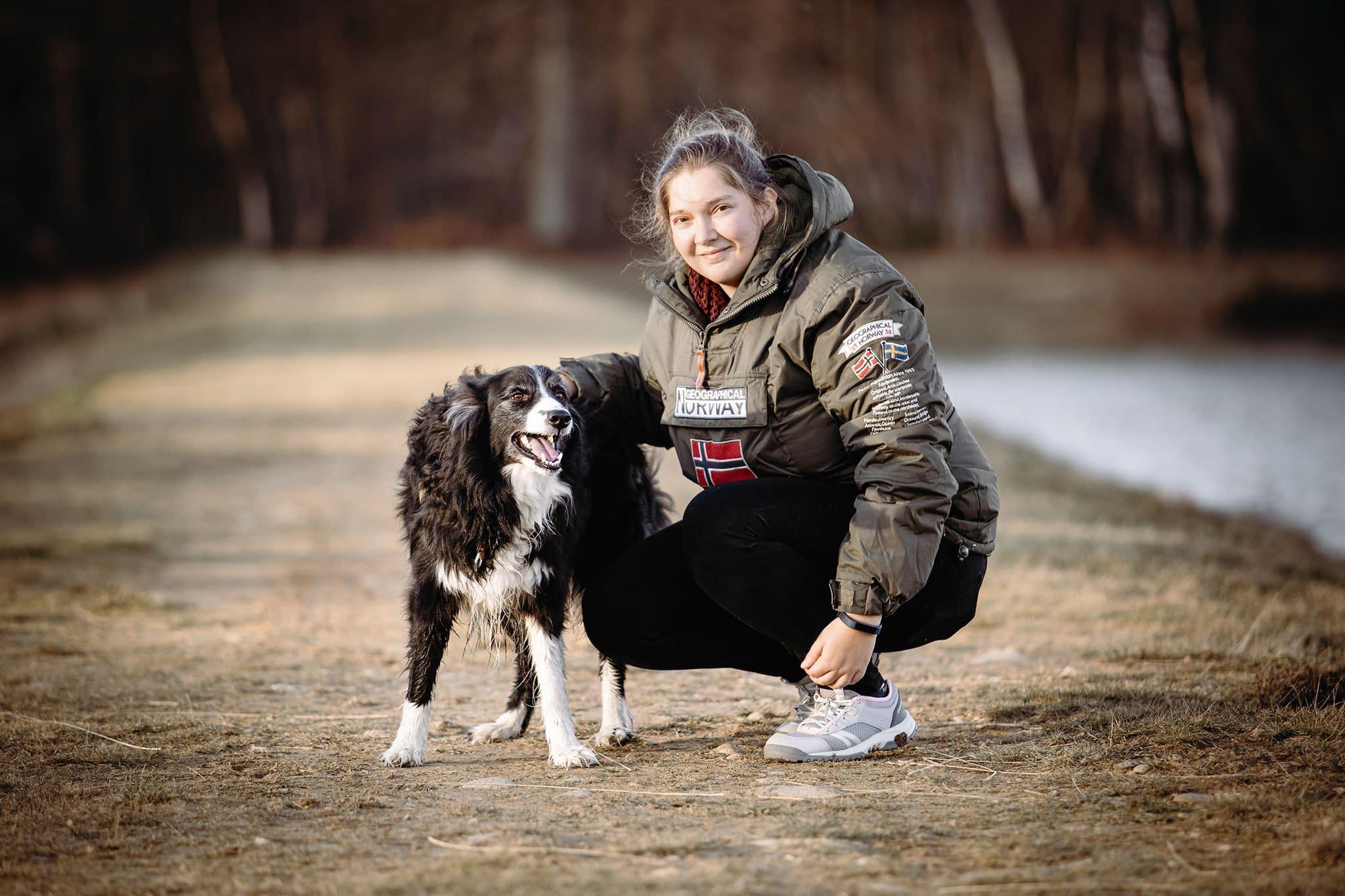 Faustine Gauchet et son chien border collie