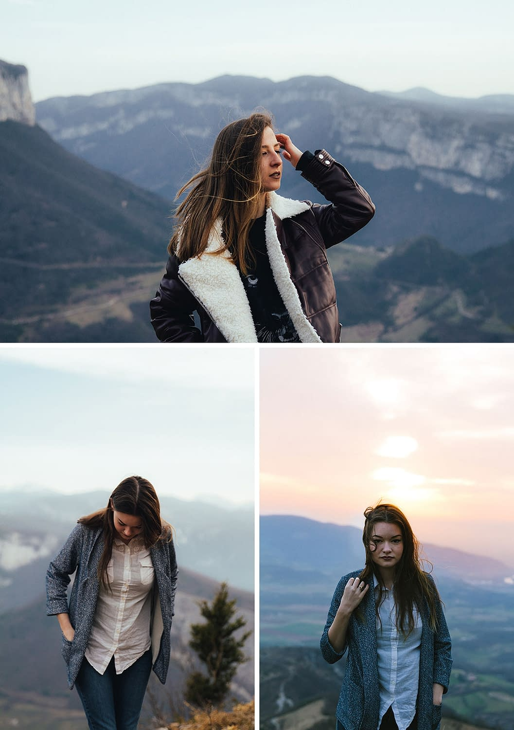 Séance photo portrait en montagne - lifestyle adventure
