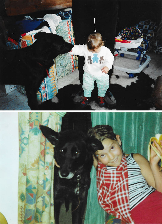 Photo argentique de mon chien et moi - Faustine Gauchet